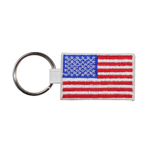 AK-1-Flag - Embroidered American Flag Key Ring