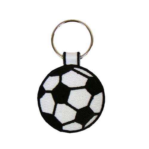 AK-1-Soccer - Embroidered Soccer Ball Key Ring