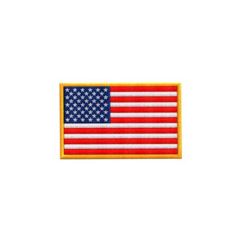 "DAF-2 - USA - American Flag DigiPrint Patch –  2"" x 1 1/4"""