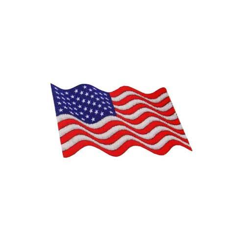 "DAF-5 - USA - American Waving Flag DigiPrint Patch – 1 7/8"" x 1"""