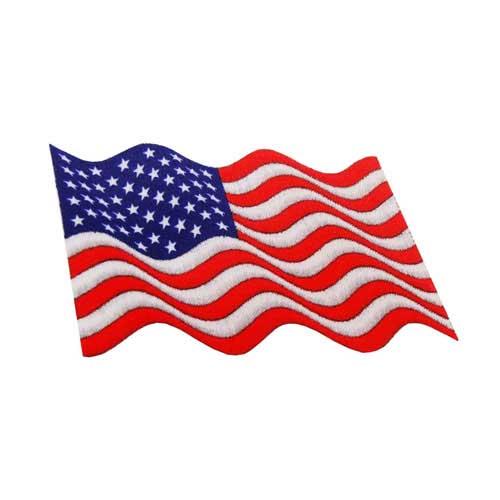 "DAF-4 - USA - American Waving Flag DigiPrint Patch – 2 3/4"" x 1 5/8"""