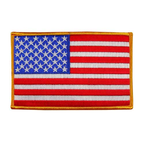 """EAF-4 - USA - American Flag Embroidered Patch - 3"""" x 4 3/4"""""""