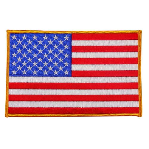 """EAF-5 - USA - American Flag Embroidered Patch - 4"""" x 6 1/4"""""""
