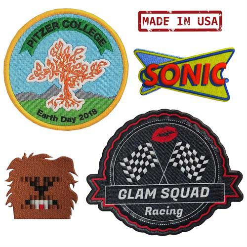 DS-2 - Full Color Dye Sublimation DigiPrint Patches with Simulated Stitch Look