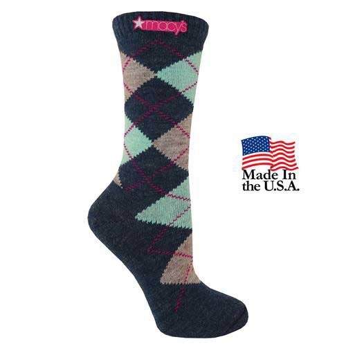 FP-2013 - Women's Fashion Plus Argyle Crew Socks