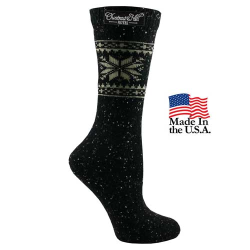 FP-9279 - Women's Fashion Plus Snowflake Crew Socks