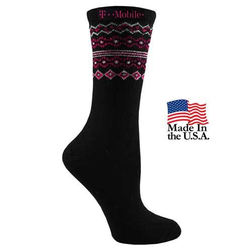 FP-9324 - Women's Fashion Plus Fairisle Top Crew Socks