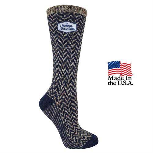 FP-72023 - Women's Fashion Plus Chevron Crew Socks