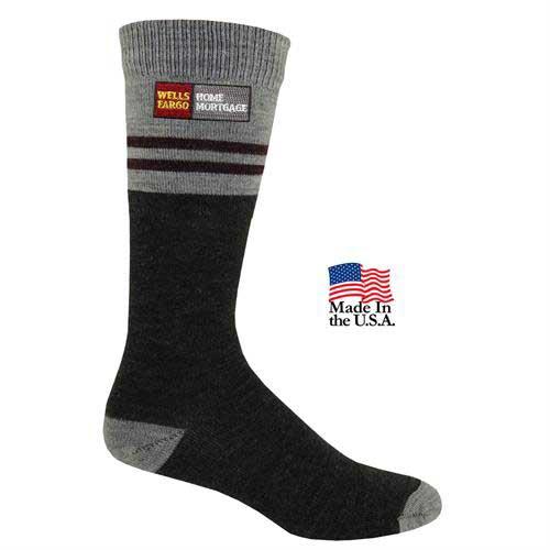 FP-778 - Men's Fashion Plus Pinstripe Crew Socks