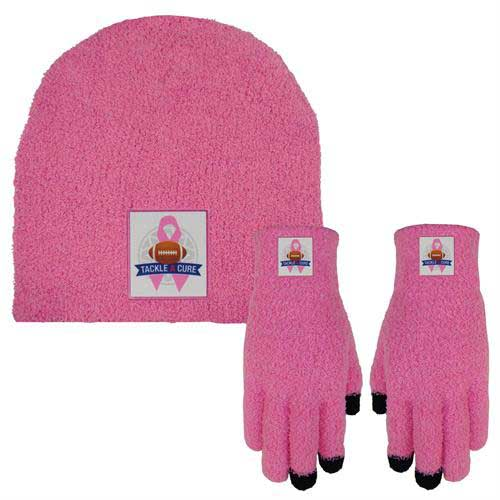 FuzzCap-Text-Combo - Fuzzy Text Gloves and Cap Combo