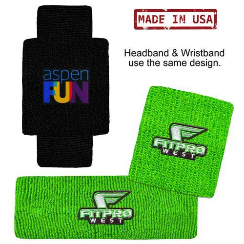HB-WB-USA-Combo - USA Made Headband and Wristband Combo