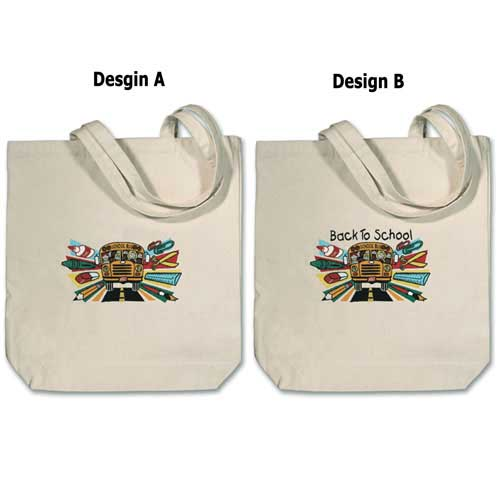 LT-202 - Embroidered Large Canvas Tote Bag