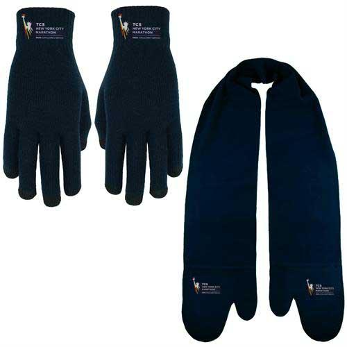 MITT-TEXT-Combo - Fleece Mitten Scarf and Text Gloves Combo