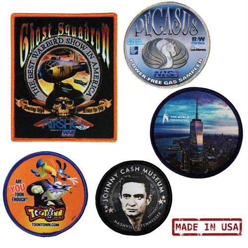 PE-1 - Full Color 4CP Dye Sublimation Patches