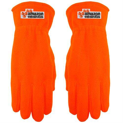 PolarGlove-200-Hi-Vis - Hi-Vis Fleece Gloves