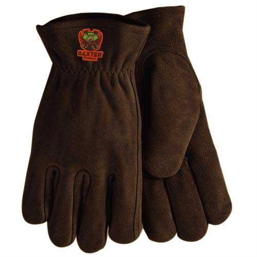 SG-50-Brown - Brown Suede Cowhide Leather Gloves