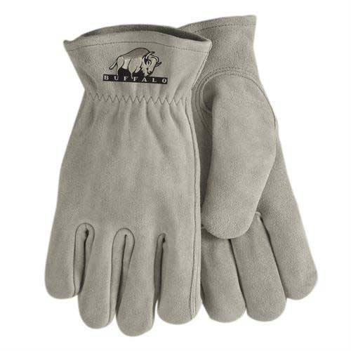 SG-50-Gray - Gray Suede Cowhide Leather Gloves