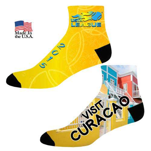 SOX-7CQHT - Full Color Couleurs Dye Sub Quarter Socks