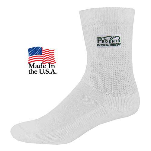 SOX-9167 - Relaxed Top Athletic Crew Socks