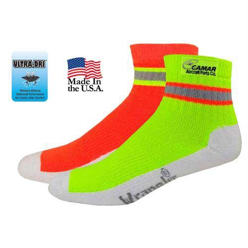 WR-492 - Wrangler Hi-Vis Quarter Work Socks