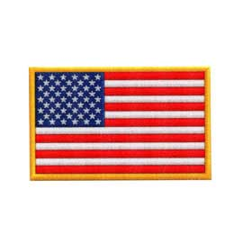 "3"" x 1 7/8"" DigiPrint American Flag Patch"