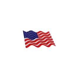 "1 1/8"" x  5/8"" DigiPrint American Waving Flag Patch"