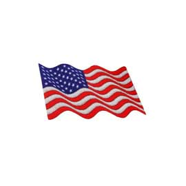 "1 7/8"" x 1"" DigiPrint American Waving Flag Patch"