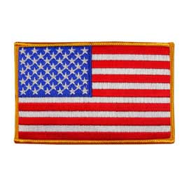 "USA - American Flag Embroidered Patch - 3"" x 4 3/4"""