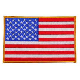 "USA - American Flag Embroidered Patch - 4"" x 6 1/4"""