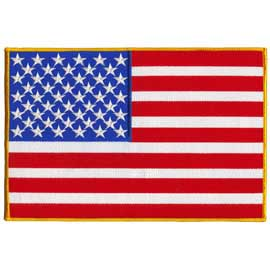 "USA - American Flag Embroidered Patch - 7"" x 10 1/2"""