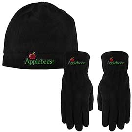 Fleece Beanie and Gloves Combo