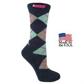 Women's Fashion Plus Argyle Crew Socks