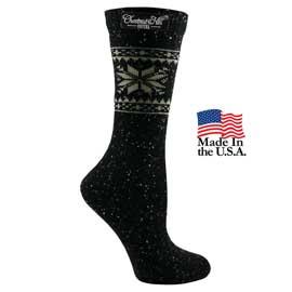 Women's Fashion Plus Snowflake Crew Socks