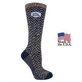 Women's Fashion Plus Chevron Crew Socks