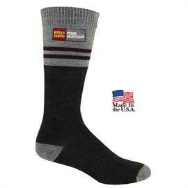Men's Fashion Plus Pinstripe Crew Socks