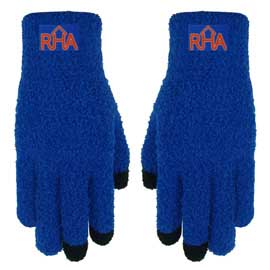 Fuzzy Text Gloves