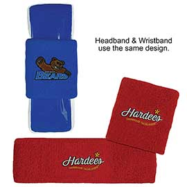 Headband & Wristband Combo Set