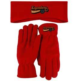 Lightweight Fleece Earband and Gloves Combo