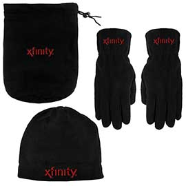 Fleece Bag, Gloves, and Beanie Combo