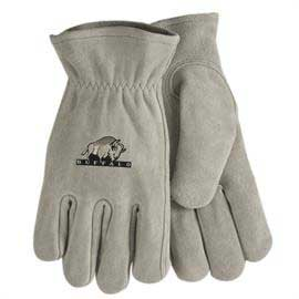 Gray Suede Cowhide Leather Gloves