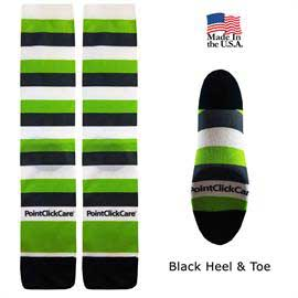 Full Color Couleurs Dye Sub Dress Socks