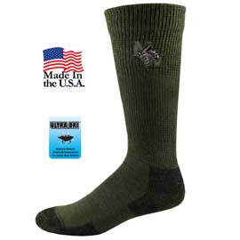 Non Binding Wool Blend Crew Socks