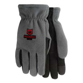 Winter Lined Fleece Text Gloves