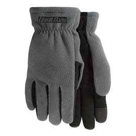 Winter Lined Fleece Text Gloves