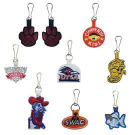 Custom Embroidered 2 Sided Zipper Pulls